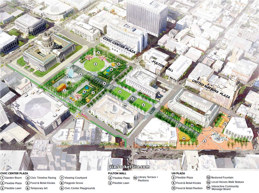 Civic Center Public Realm Plan Rendering - Civic