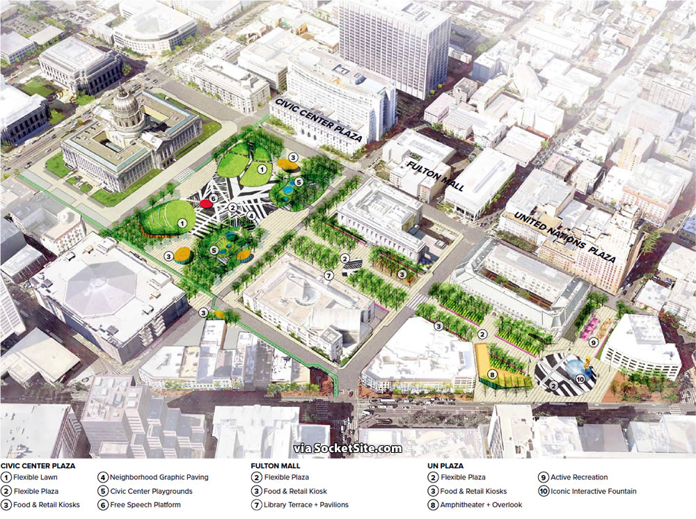 Civic Center Public Realm Plan Rendering - Public