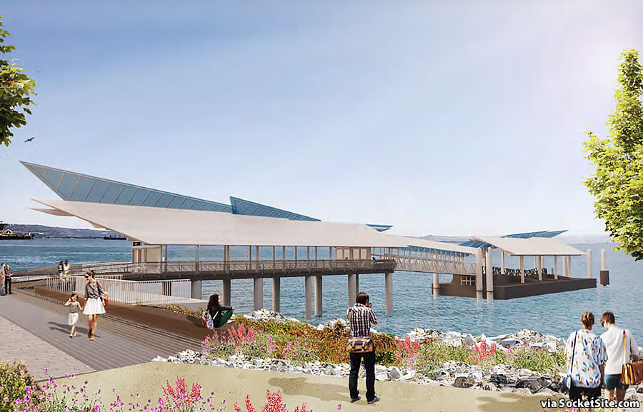 Mission Bay Ferry Landing Rendering South Facade