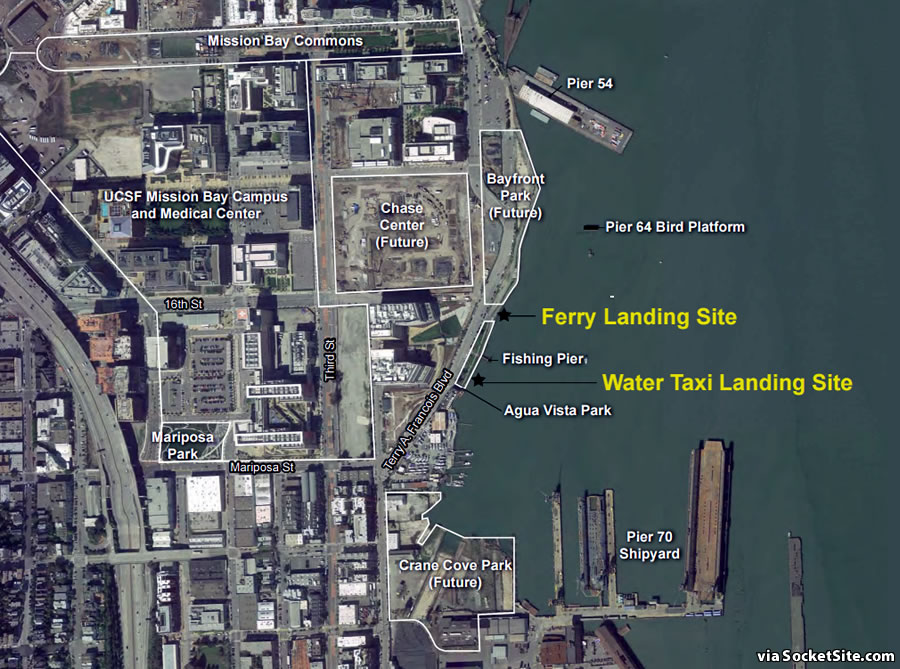 Details and Timing for Mission Bay Ferry and Water Taxi Service