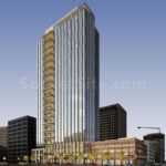 More Height, Less Parking, New Design for Approved Oakland Tower