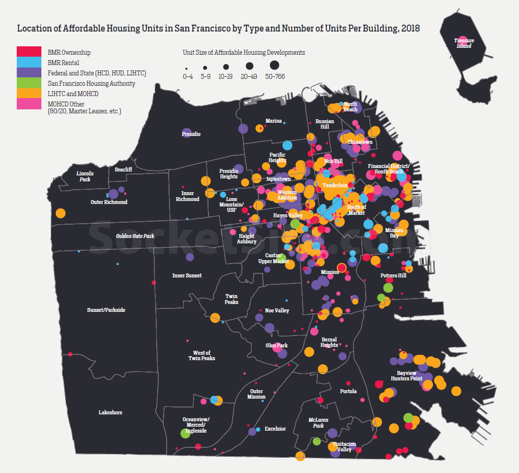 The Distribution of Affordable Housing in San Francisco