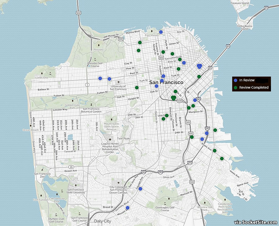 Proposed Development in San Francisco Tracking a Seven-Year Low