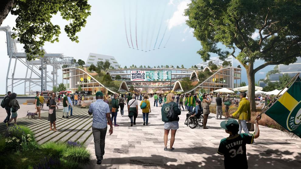 Oakland A's Howard Terminal Rendering 2018 - Entrance