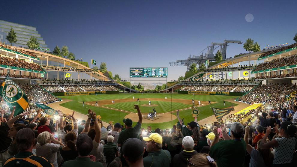 Oakland A's Howard Terminal Rendering 2018 - Home Plate View