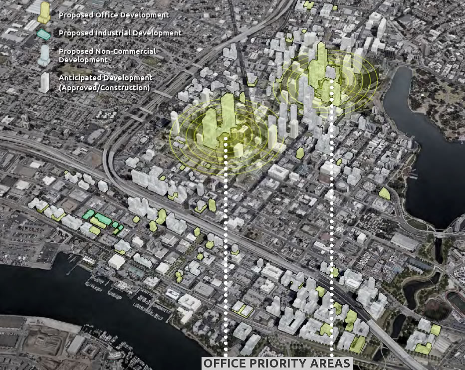 Downtown Oakland Preliminary Draft Plan - Commericial Development