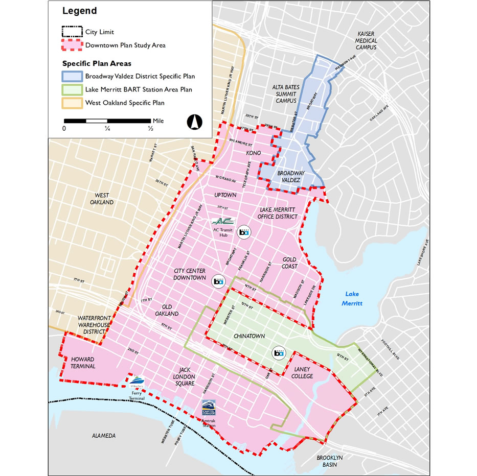 Downtown Oakland Specific Plan Area Map