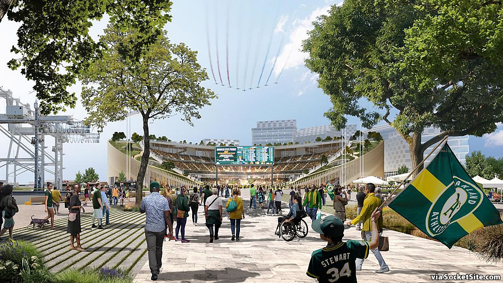 Oakland A's Howard Terminal Rendering 2019 - Entrance