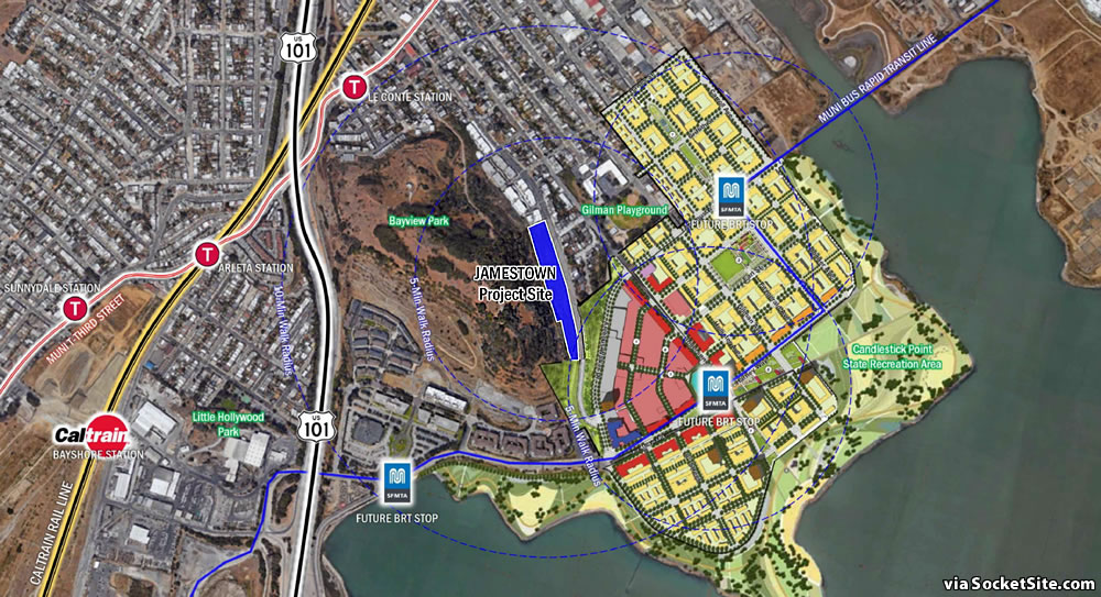 Image result for Jamestown development and Candlestick Point development